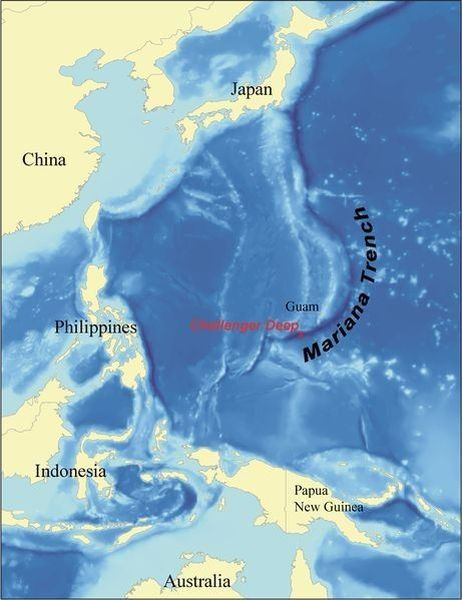 Мариинская впадина (карта)