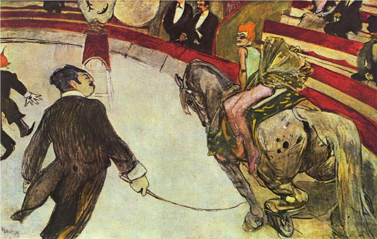 At the Circus Fernando, the rider 1888