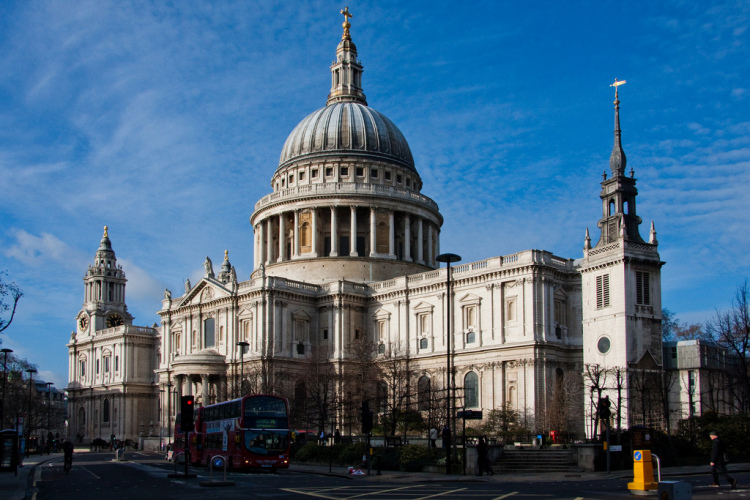 St Paul's Cathedral on a sunny winter's day.